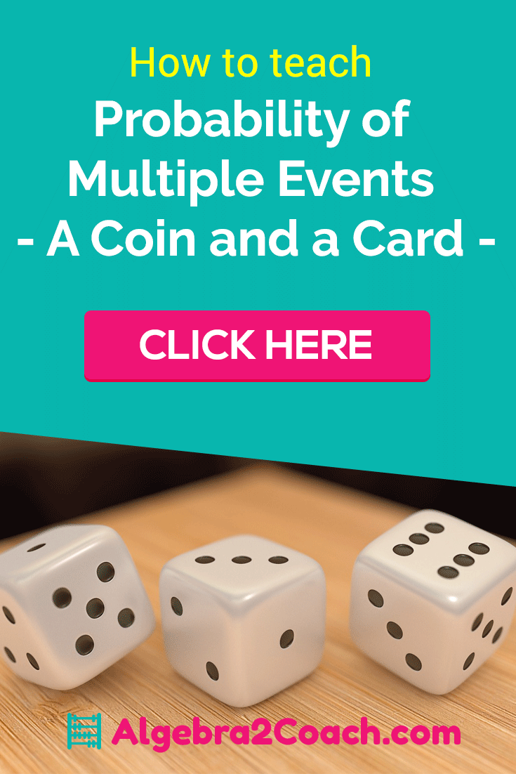 probability of multiple events a coin and a card - Pinterest