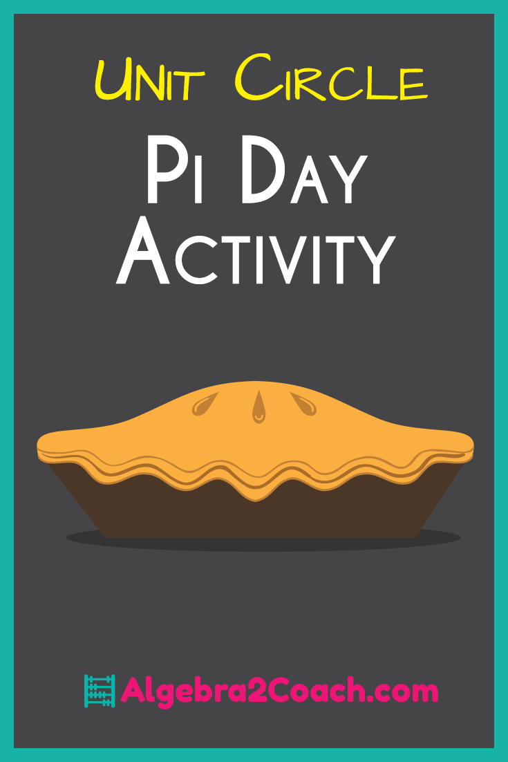 Pi Day Activity Algebra 2 with Trigonometry - The Unit Circle