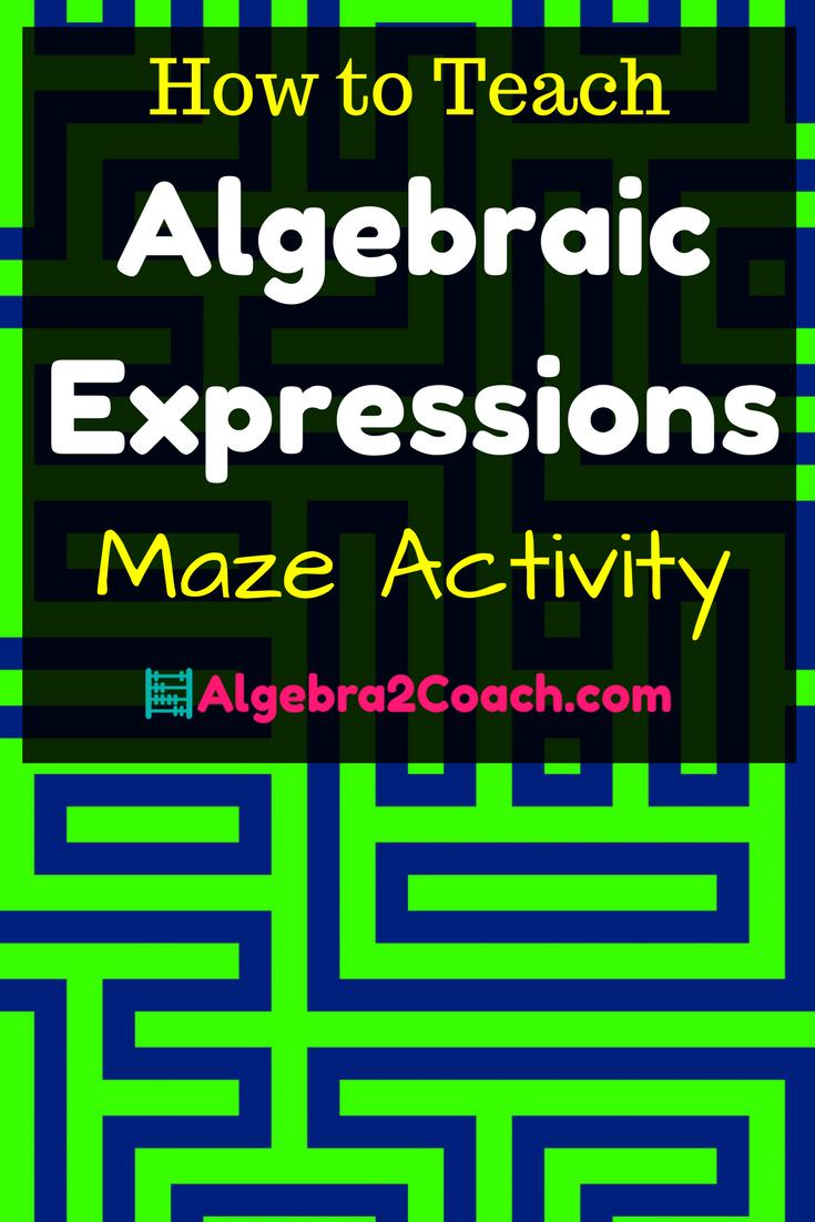 Algebraic Expressions Worksheet - Pinterest