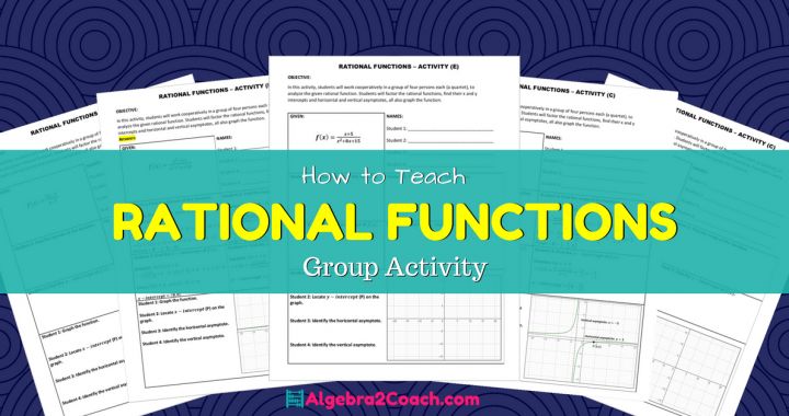 Rational Functions Worksheet Group Activity