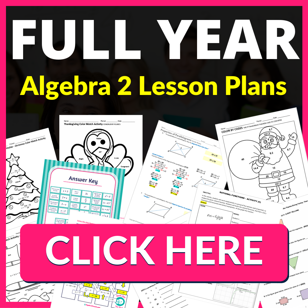Algebra 2 Teacher Materials