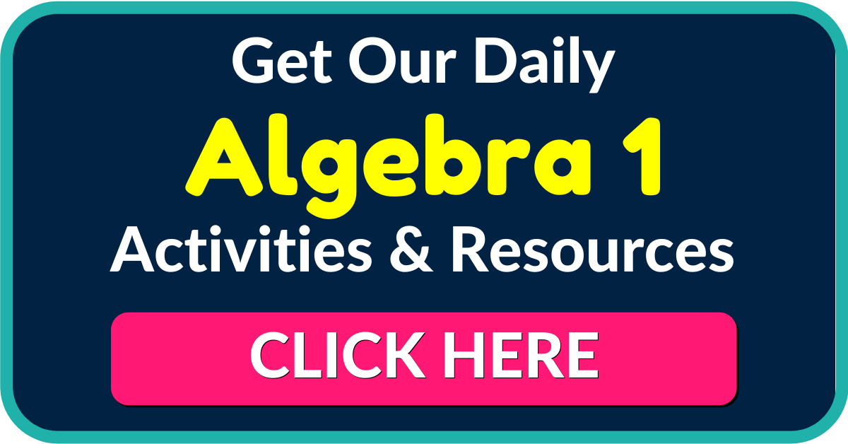 FREE Algebra 1 Worksheets