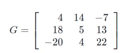An example of a matrix element