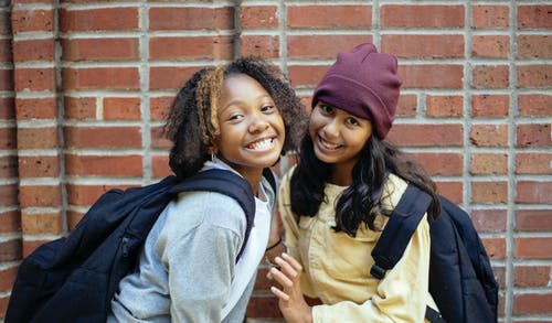 two female students posing for a photo